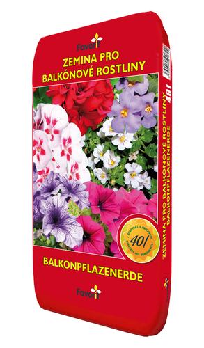 Zemina pro balkónové rostliny 40l